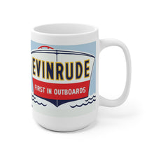 Vintage Evinrude Outboard Engine White Ceramic Mug by Retro Boater