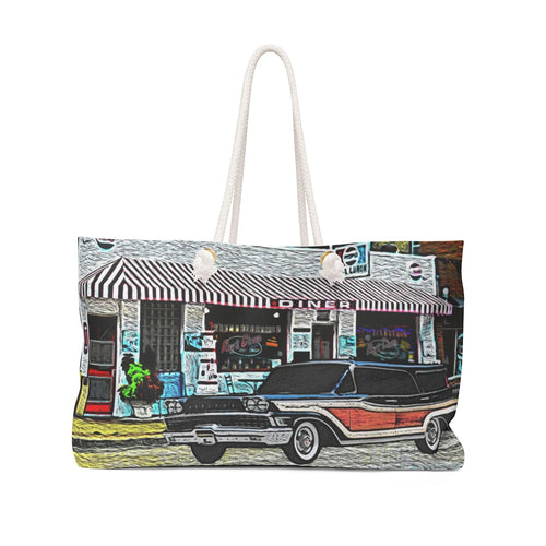 1958 Mercury Woodie Station Wagon Weekender Bag by SpeedTiques