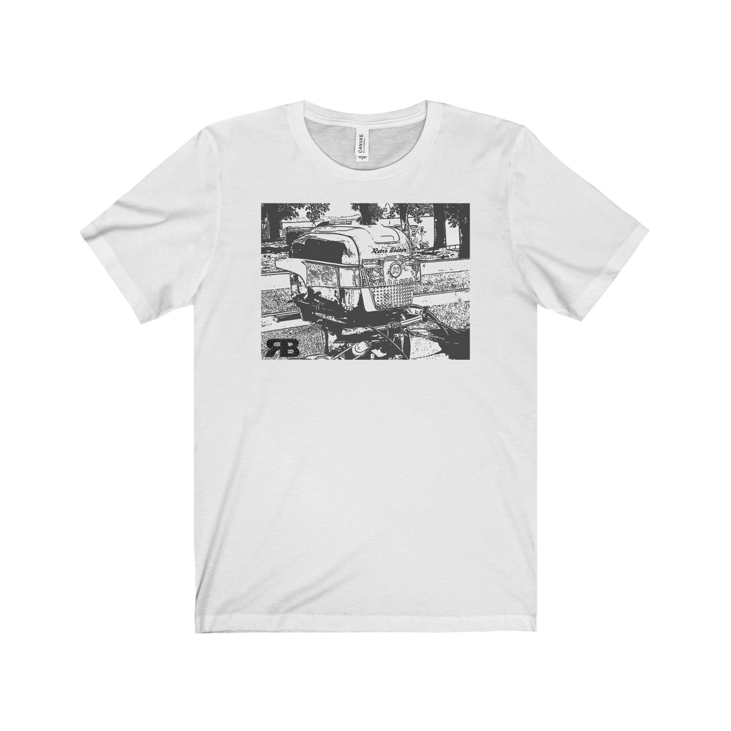 Late 50s Outboard by Retro Boater Unisex Jersey Short Sleeve Tee