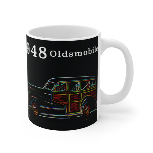 1948 Oldsmobile Series 60 station wagon White Ceramic Mug by SpeedTiques