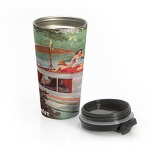Vintage Houseboat by Retro Boater Stainless Steel Travel Mug