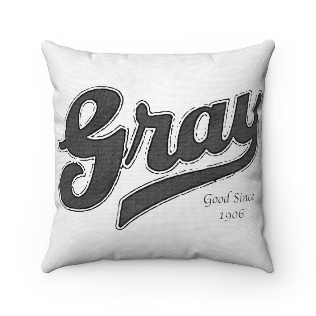 Gray Marine Spun Polyester Square Pillow by Retro Boater