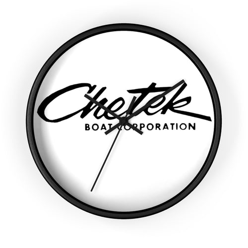 Chetek Boats Wall clock by Classic Boater