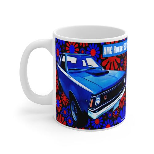 Classic AMC Hornet SC/360 White Ceramic Mug by SpeedTiques