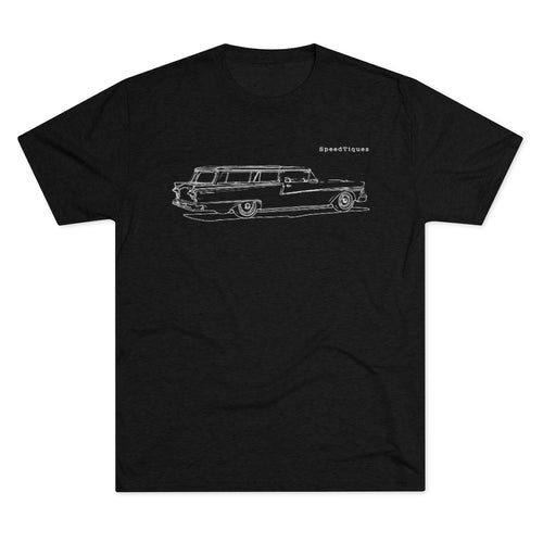 1958 Ford Ranch Wagon Men's Tri-Blend Crew Tee by SpeedTiques
