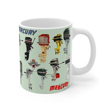 Vintage Antique Mercury Outboard Engine Lineup Mug 11oz by Retro Boater