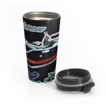 Silver Arrow Exterior in Neon Stainless Steel Travel Mug