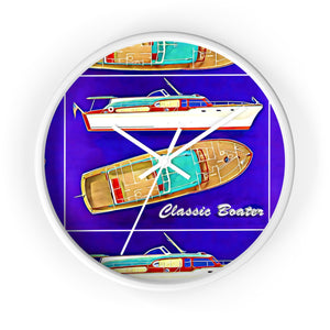 Vintage Chris Craft Cruiser Wall clock by Classic Boater