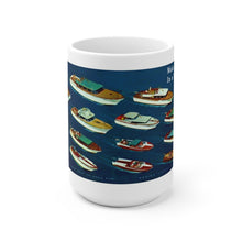 1958 Chris Craft Line-Up White Ceramic Mug by Retro Boater