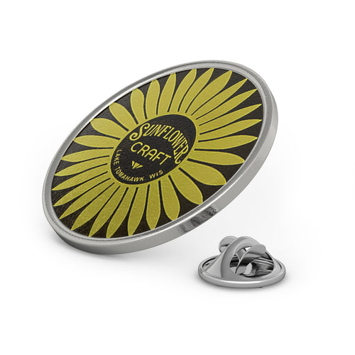 067691aa Sunflower Boats Metal Pin by Classic Boater
