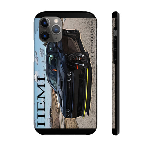 Dodge Challenger Hellcat Case Mate Tough Phone Cases by SpeedTiques