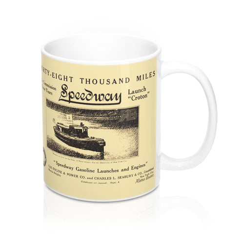 Speedway Boat and Engine Company 11oz Mug by Retro Boater