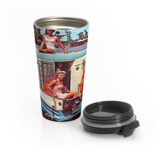 Vintage Boat Babes on an Overnight Houseboat Party Stainless Steel Travel Mug