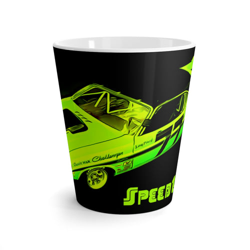 Vintage 1970 Dodge Challenger Sam Posey Race Car Latte mug by SpeedTiques