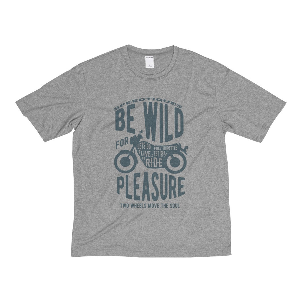 Be WILD! Men's Heather Dri-Fit Tee by Speedtiques