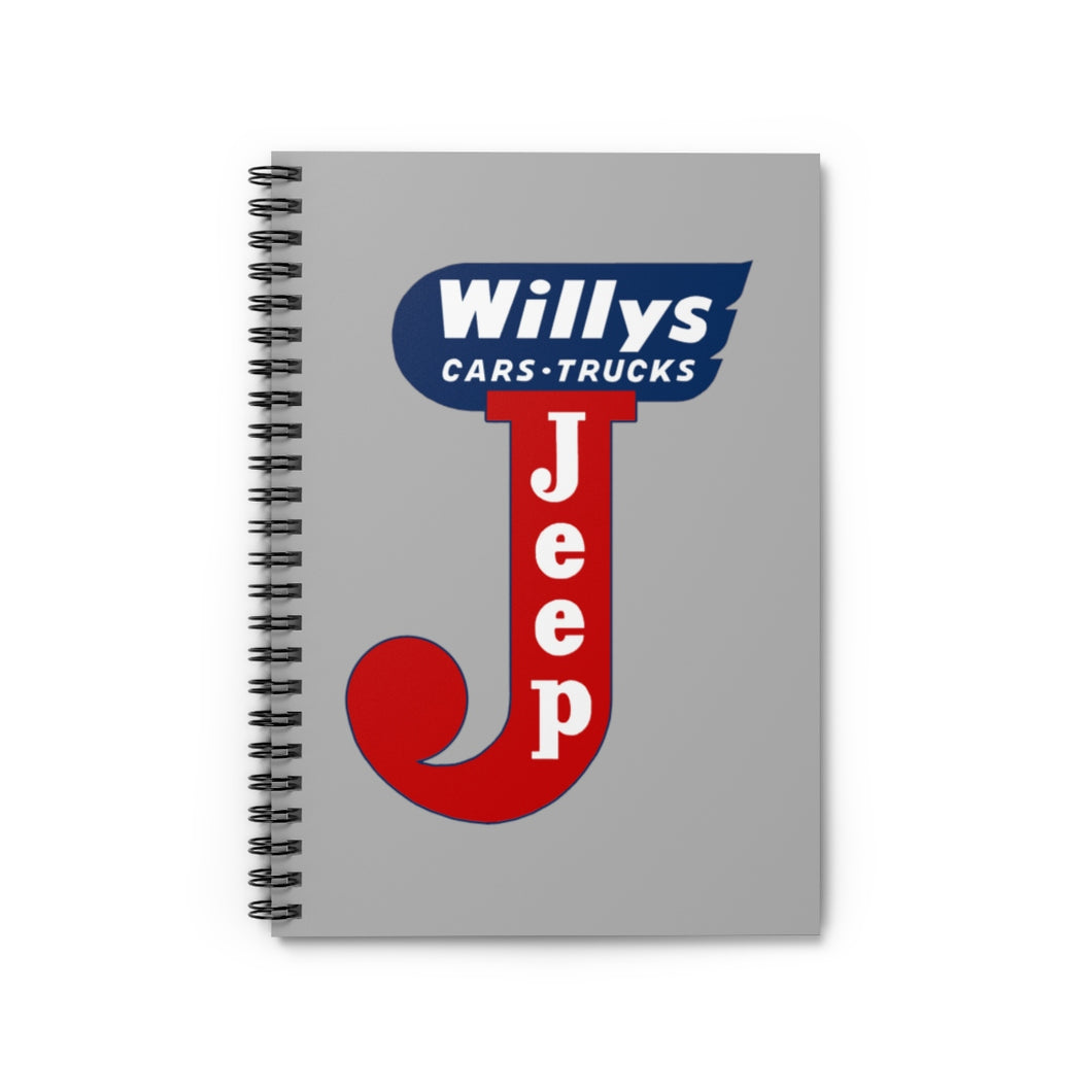 Willys Jeep Spiral Notebook - Ruled Line by SpeedTiques