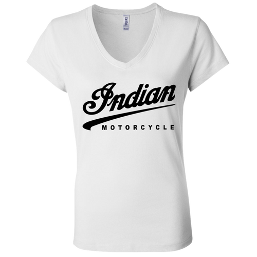 Vintage Indian Motorcycle B6005 Ladies' Jersey V-Neck T-Shirt