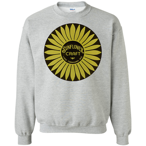 Sunflower Boats by Retro Boater G180 Gildan Crewneck Pullover Sweatshirt  8 oz.