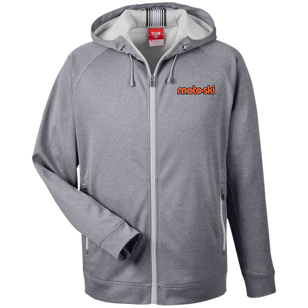 Moto-Ski  Team 365 Men's Heathered Performance Hooded Jacket