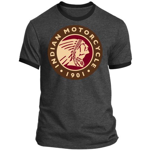 1901 Vintage Indian Motorcycle Ringer Tee