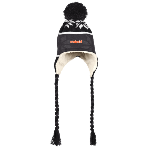 Moto-Ski  Holloway Hat with Ear Flaps and Braids