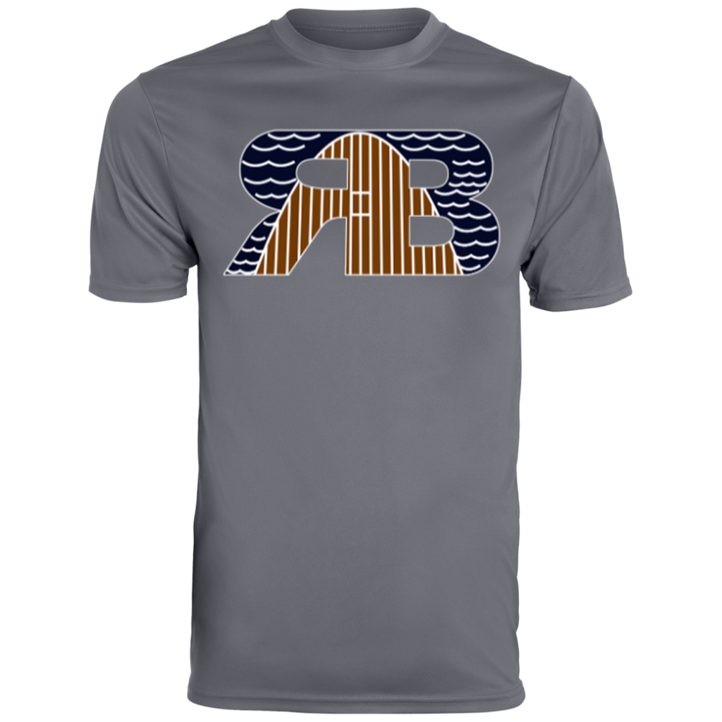 Retro Boater Logo in Color 790 Augusta Men's Wicking T-Shirt
