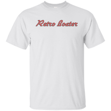 Retro Boater in Red/Grey Outline G200 Gildan Ultra Cotton T-Shirt