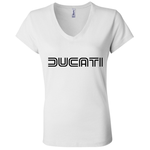 Vintage Ducati B6005 Ladies' Jersey V-Neck T-Shirt