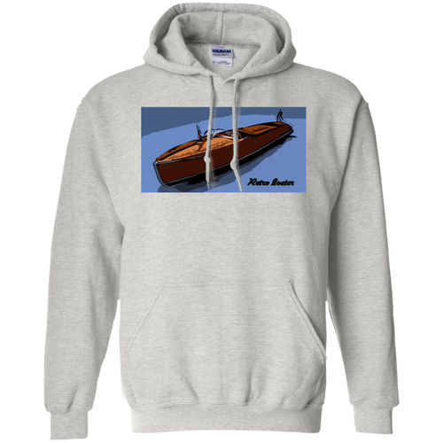 Vintage Chris Craft Runabout by Retro Boater  Gildan Pullover Hoodie 8 oz.