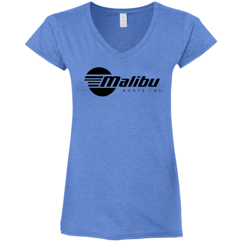 Classic Malibu Boats Ladies' Fitted Softstyle 4.5 oz V-Neck T-Shirt