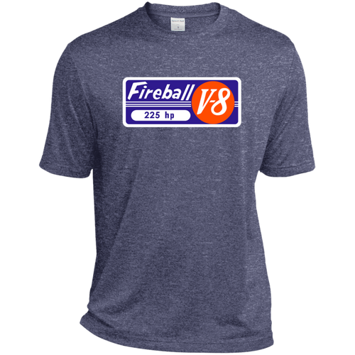 Gray Marine Fireball Engine ST360 Sport-Tek Heather Dri-Fit Moisture-Wicking T-Shirt