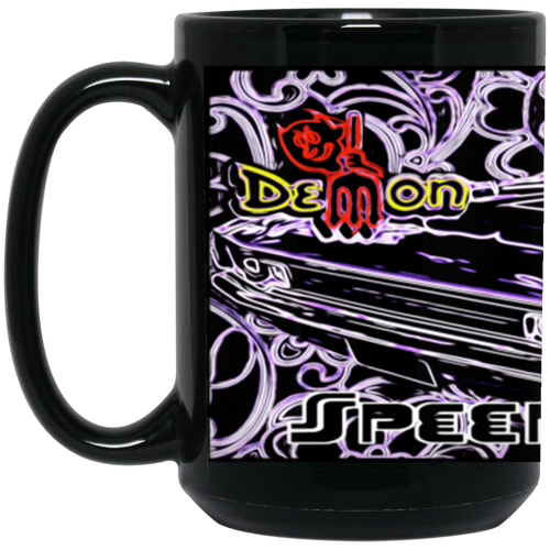 1972 Dodge Demon BM15OZ 15 oz. Black Mug by SpeedTiques