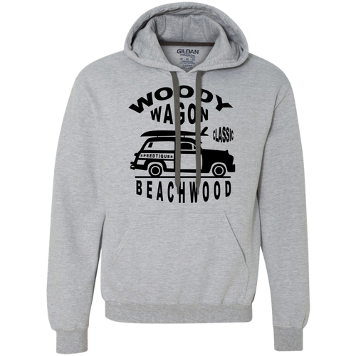 Speedtiques Woody Wagon Gildan Heavyweight Pullover Fleece Sweatshirt
