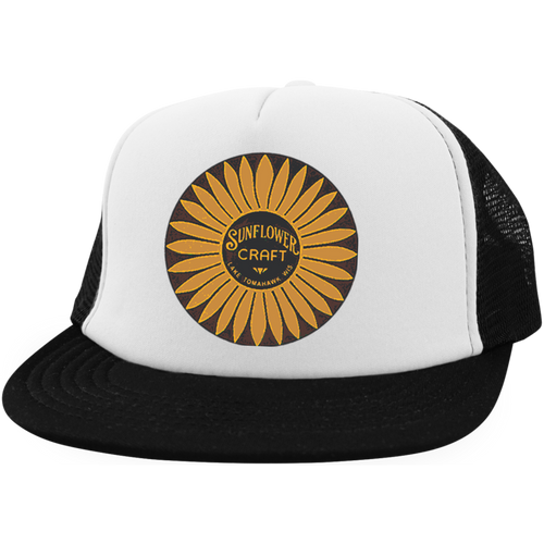 Sunflower Boats by Retro Boater DT624 District Trucker Hat with Snapback