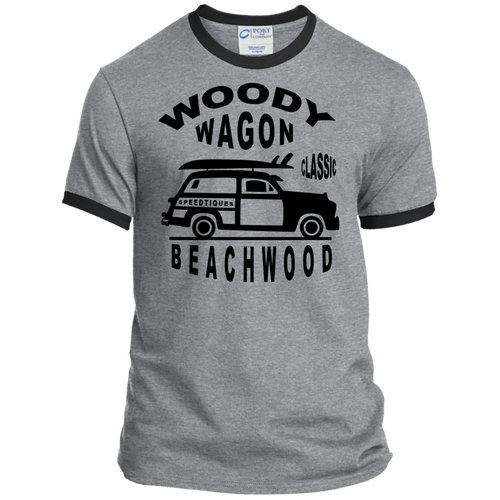 Speedtiques Woody Wagon Port & Co. Ringer Tee