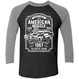 American Muscle NL6051 Next Level Tri-Blend 3/4 Sleeve Baseball Raglan T-Shirt