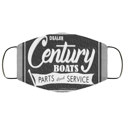 Vintage Century Boats Sign FMA Face Mask