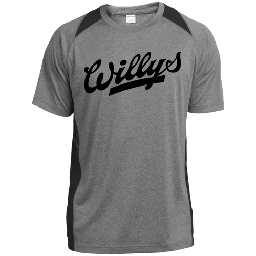 Vintage Willys ST361 Heather Colorblock Poly T-Shirt