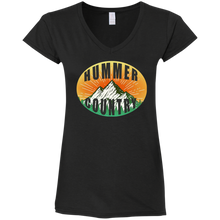 Hummer Country G64VL Gildan Ladies' Fitted Softstyle 4.5 oz V-Neck T-Shirt