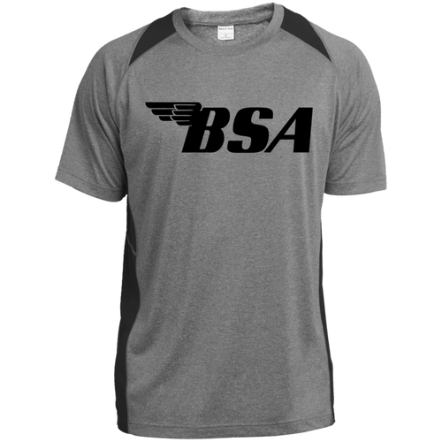 Vintage BSA Motorcycles ST361 Heather Colorblock Poly T-Shirt