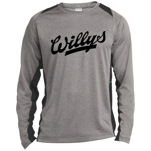 Vintage Willys Long Sleeve Heather Colorblock Poly T-Shirt