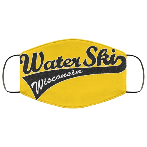 Water Ski Wisconsin FMA Face Mask by Retro Boater