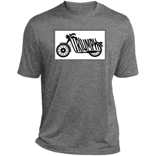 Vintage Triumph Motorcycle Heather Dri-Fit Moisture-Wicking T-Shirt