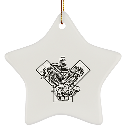 Ford Y-Blcok by Retro Boater SUBORNS Ceramic Star Ornament