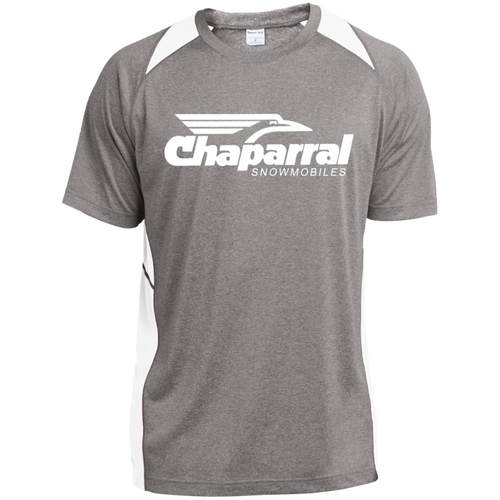 Vintage Chaparral Snowmobiles ST361 Heather Colorblock Poly T-Shirt