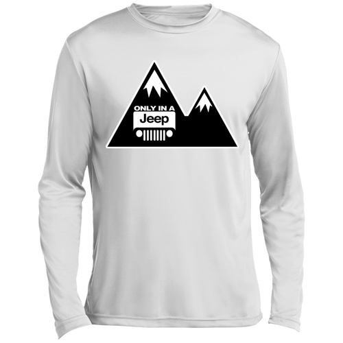 Classic Only in a Jeep with Mountains Long sleeve Moisture Absorbing T-Shirt