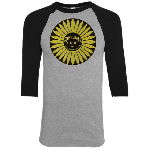 d310bffa Sunflower Boats by Retro Boater 420 Augusta Colorblock Raglan Jersey