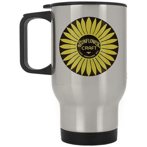 Sunflower Boats by Retro Boater XP8400S Silver Stainless Travel Mug