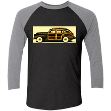 1942 Chrysler Town and Country Barrelback by Speedtiques Next Level Tri-Blend 3/4 Sleeve Baseball Raglan T-Shirt