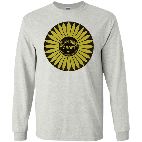 Sunflower Boats by Retro Boater G240 Gildan LS Ultra Cotton T-Shirt